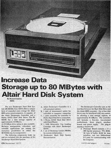 Altair Hard Disk System
